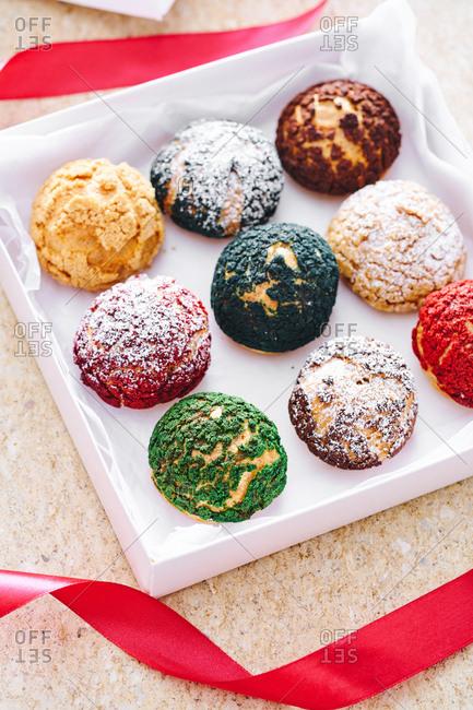 Dessert rolls in gift box