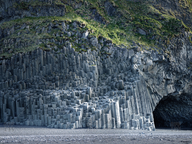 Basalt columns at Reynisdragar, Iceland