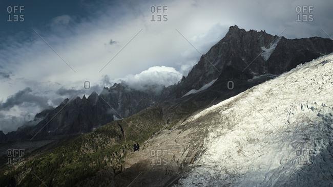 Glacier in the French Alps, Chamonix