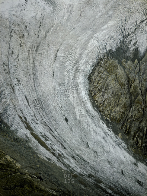 Detail of glacier at Mont Blanc, Chamonix, France