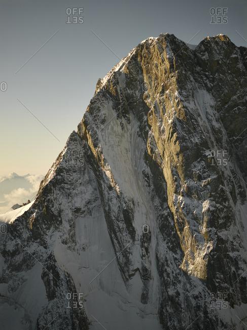 Craggy peaks at dusk, Mont Blanc, Chamonix, France