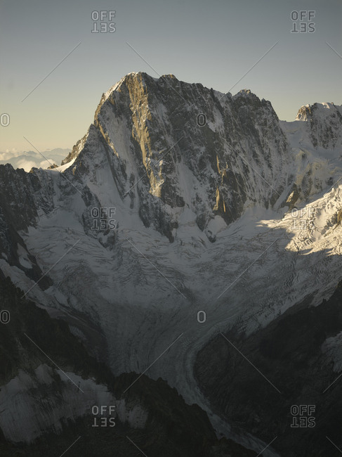 Mountains and glacier at Chamonix, France