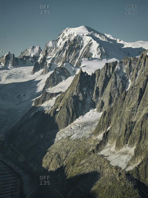 View of Mont Blanc, Chamonix, France