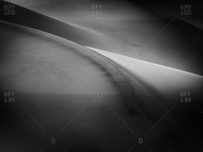 Monochrome abstract of dunes