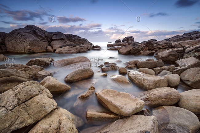 Long exposure landscape image on coast near Dunsborough