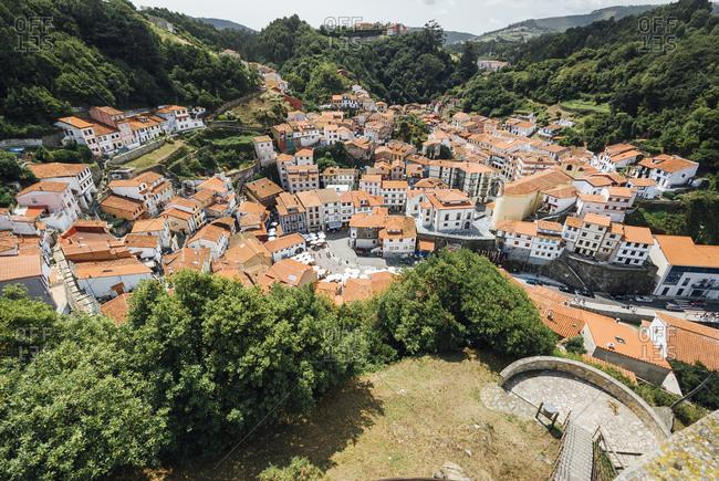 Cudillero village view in Asturias, Spain