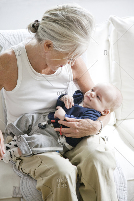 Baby boy with Grandmother