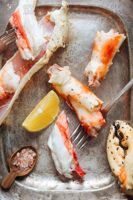 Platter of crab legs