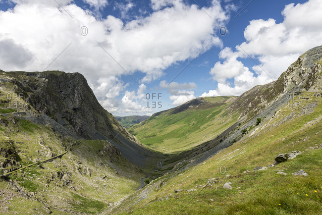 Valley in the Lake District, UK