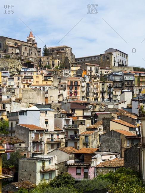 Italy, Sicily - April 27, 2015: Mountain village Castiglione di Sicilia