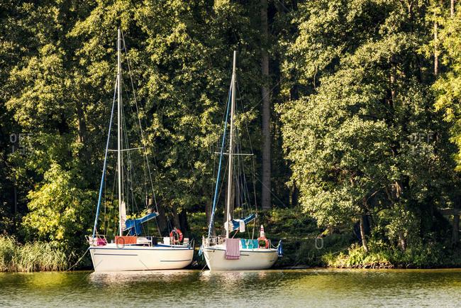 Poland- Masuria- Sailing boats on Lake Niegocin