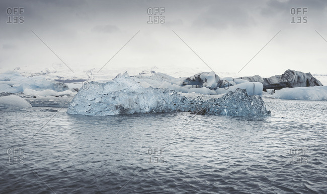 Iceland- view of Joekulsarlon- glacial river lagoon