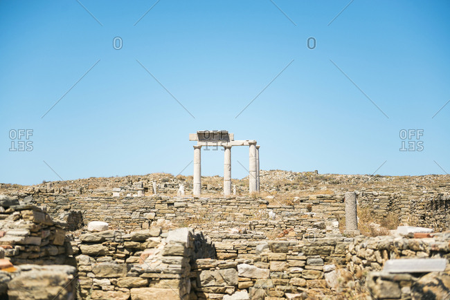 Greece- Mykonos- Delos- Establishment of the Poseidoniasts