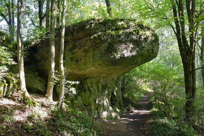 Germany- Ahorntal- rock at Promenadenweg