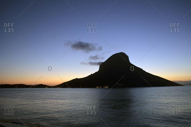 Greece- Kalymnos- rock in Massouri at twilight
