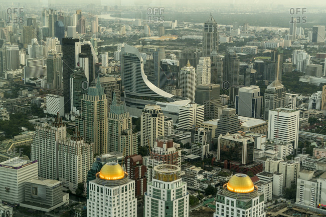 Thailand, Bangkok - December 4, 2016: Cityscape seen from above