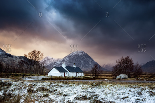 UK- Scotland- Glencoe- Black Rock Cottage