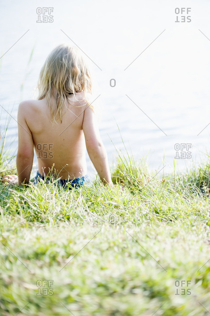 Boy at water - Offset Collection