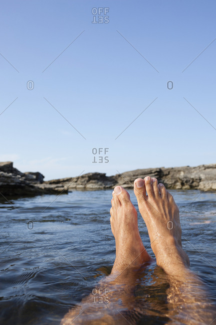 Feet in sea