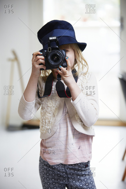 Girl taking picture