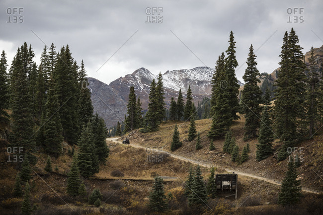 Dirt track in mountains