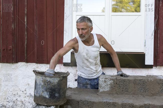 Man making steps