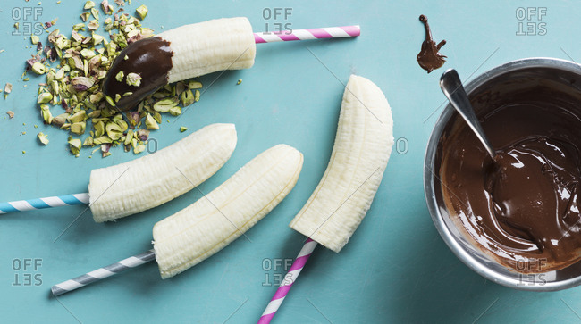Banana and chocolate dessert