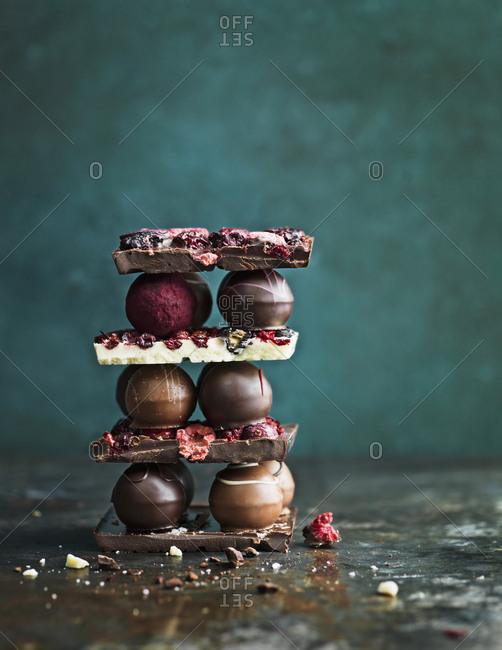 Chocolate and chocolate truffles