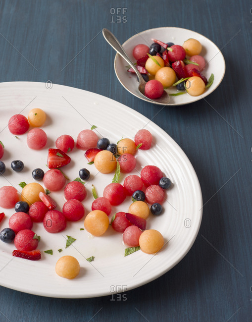 Melon Ball and Berry Fruit Salad