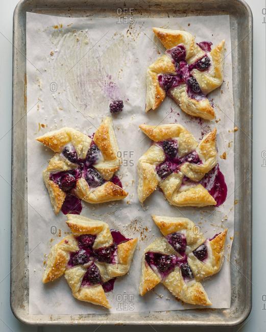 Blackberry and Cream Pinwheel Pastries