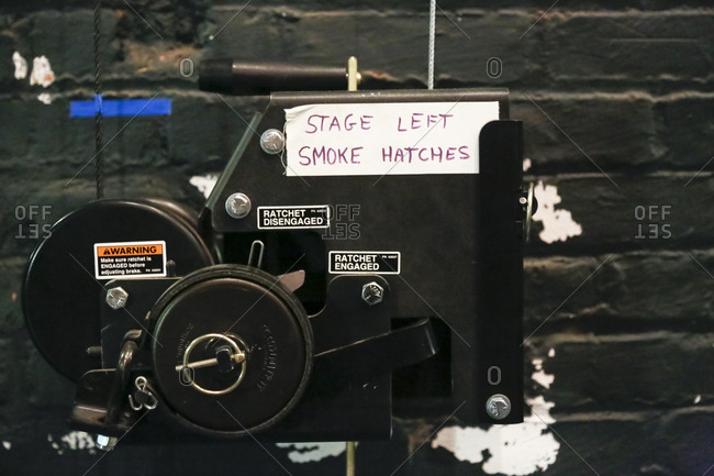 Brooklyn, New York - February 20, 2017: A smoke vent in theater