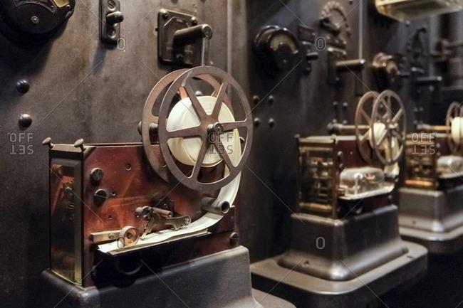 Ticker tape machine in Grand Central, New York