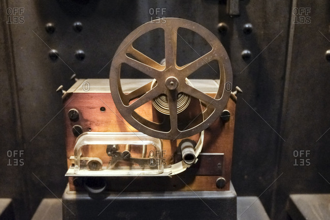 Old ticker tape machine in Grand Central, New York