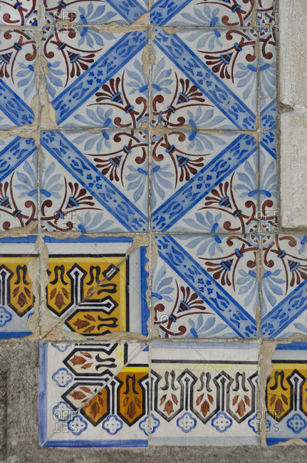 Detail of Azulejos tile work