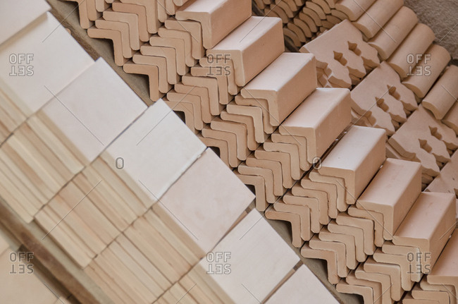 A variety of ceramic tiles