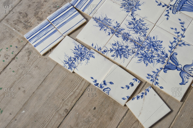 Traditional Portuguese painted tiles