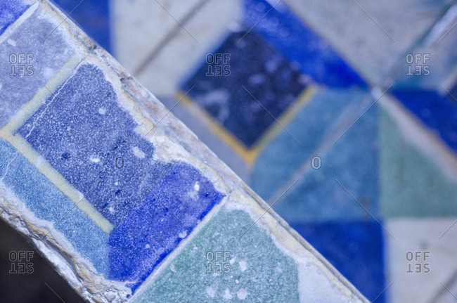 Traditional tiles on a wall
