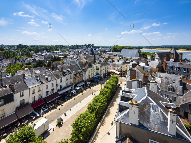 France, Amboise - June 9, 2015: View to the old town from above