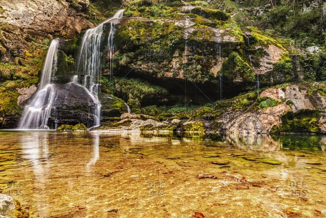 Slovenia- Bovec- Triglav National Park- Slap Virje
