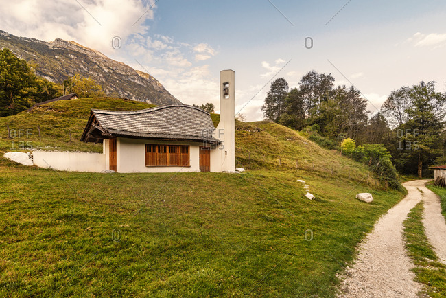 Slovenia- Bovec- Triglav National Park- mountain church