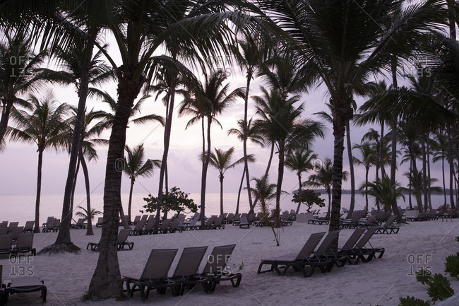 Caribbean- Dominican Republic- Bavaro Beach at sunrise