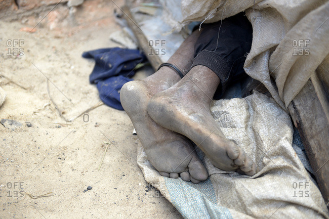 Madagascar- feet of sleeping homeless