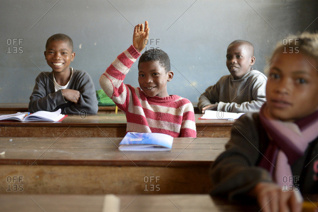 Madagascar- Pupils in Fianarantsoa elementary school