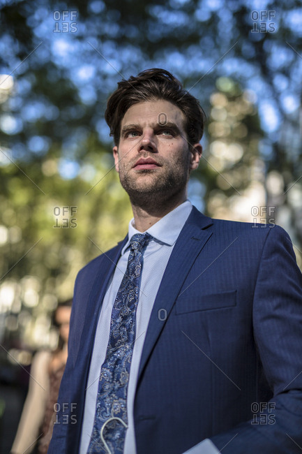 Successful businessman in Manhattan- portrait