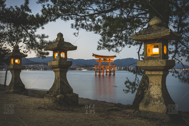 Japan- Miyajima- Gate of the Itsukushima Shrine- UNESCO world heritage site