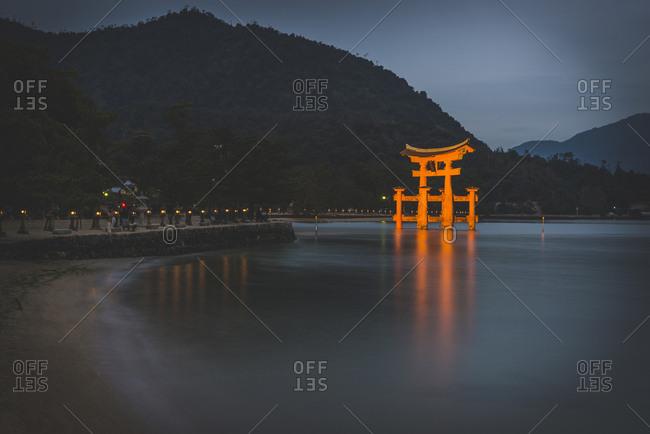Japan- Miyajima- Gate of the Itsukushima Shrine- UNESCO world heritage site