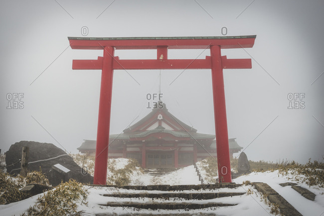 Japan- Hakone- Shrine at Mount Komag take