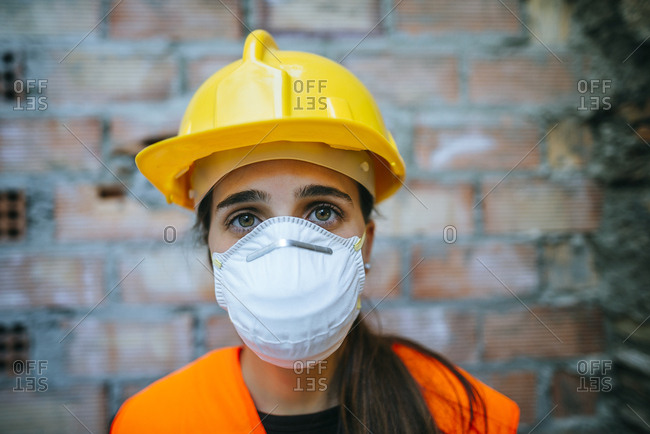 Wearing Photo Stock Portrait Offset Mask - Woman Of Dust