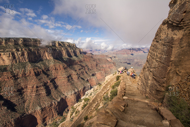 USA, Nevada - September 30, 2016: Grand Canyon National Park- tour group at view point