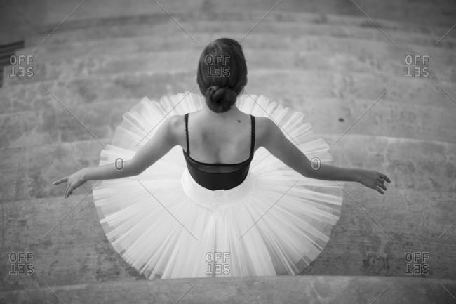 Ballet dancer wearing tutu